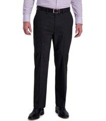 j.m. haggar men's classic-fit 4-way stretch textured grid performance dress pants