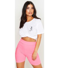petite rose pocket print slogan t-shirt, white