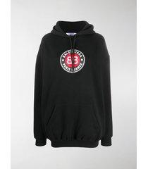 balenciaga club logo oversized hoodie