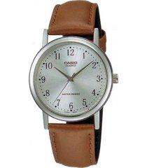 reloj mtp-1095e-7b casio plateado