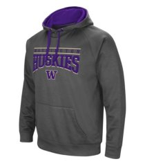 colosseum washington huskies men's poly performance hooded sweatshirt