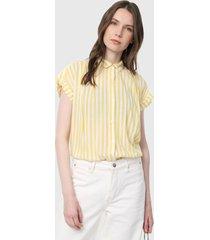 blusa amarillo-blanco gap