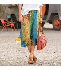 boho swirl skirt