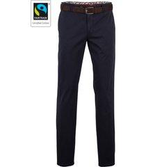 meyer pantalon bonn donkerblauw met riem