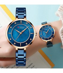 reloj moda dama analogo elegante curren cristal diamante