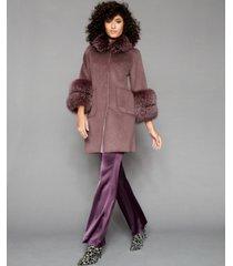 the fur vault fox-fur-trim coat