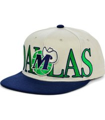 mitchell & ness dallas mavericks hardwood classic winners circle snapback cap