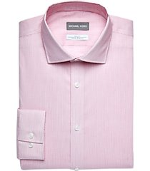 michael kors pink mini check slim fit dress shirt