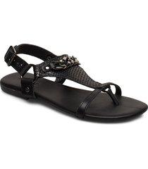 biabecca verona leather sandal shoes summer shoes flat sandals svart bianco