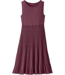 gebreide jurk met plissérok, hortensia 38
