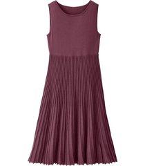 gebreide jurk met plissérok, hortensia 44