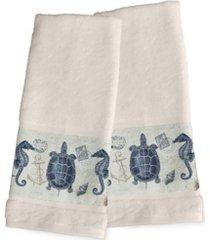 laural home seaside postcard 2-pc. hand towel set bedding