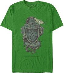 fifth sun men's slytherin crest short sleeve crew t-shirt