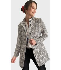 abrigo desigual gris - calce regular