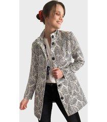 abrigo desigual gris - calce regular