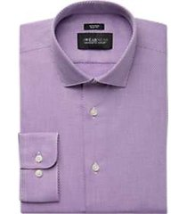 awearness kenneth cole berry woven texture slim fit dress shirt