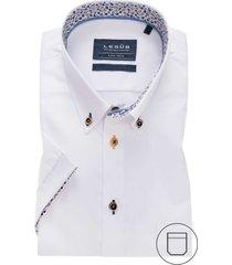 ledub korte mouwen overhemd wit modern fit