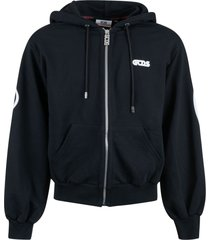 gcds back logo zip hoodie