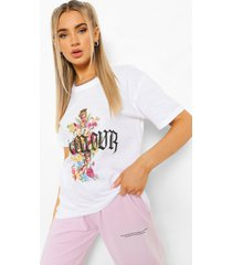 bloemenprint l'amour kerub t-shirt, white