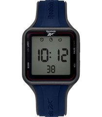 reloj azul reebok elements square digital