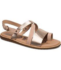 ella™ criss cross shoes summer shoes flat sandals guld sorel