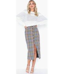 glamorous checkered skirt midikjolar