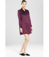 natori key essentials sleepshirt pajamas, women's, 100% silk, size xs sleep & loungewear