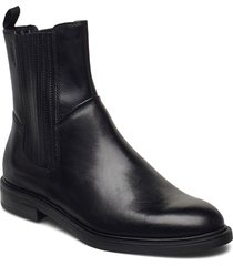 amina shoes boots ankle boots ankle boot - flat svart vagabond