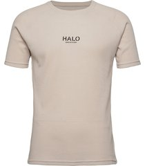halo waffle tee t-shirts short-sleeved beige halo