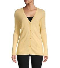 button-front cotton & cashmere-blend cardigan