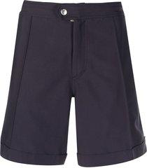 brunello cucinelli pleated swim shorts - blue