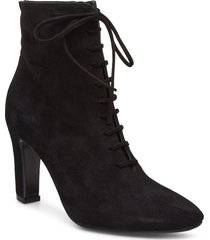 booties 3441 shoes boots ankle boots ankle boot - heel svart billi bi