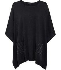 maglione oversize con borchiette (nero) - bodyflirt