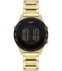 relógio technos crystal dourado bj3851ab/4p