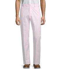 flat-front stretch-cotton pants
