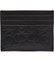 coach men's card case - embossed signature leather