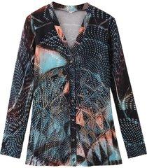 blusa strass multicolor negro nicopoly