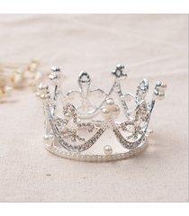 sposa diadema di cristallo perline da sposa con strass per matrimoni e perline