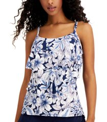 coco reef ruffled underwire tankini top women's swimsuit