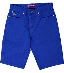 lacoste live blue bermuda shorts fh6381
