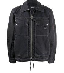 diesel cutaway collar jacket - black