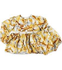 baroque print dress & diaper cover