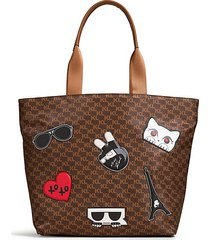 amor patch logo tote