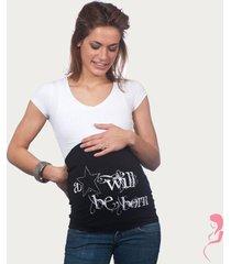 op en top zwanger zwangerschaps buikband a star will be born zwart
