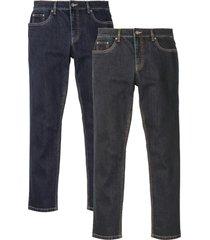 jeans elasticizzati slim fit straight con poliestere riciclato (pacco da 2) (blu) - john baner jeanswear