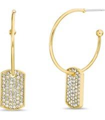casted c-hoop post earrings