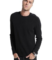 chaleco ls camo sleeve inset liam swtr negro guess
