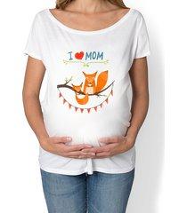 koszulka ciążowa. zwierzęta leśne, wiewiórki