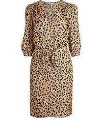 cheetah-print blouson dress