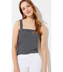 loft striped square neck outfit-making tank